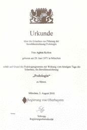 Agaia Koliou - staatlich geprüfte Podologin